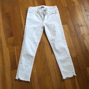 AEO white stretch denim jeans